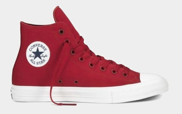 Фото Converse Chuck Taylor All Star II High красно-белые - 1