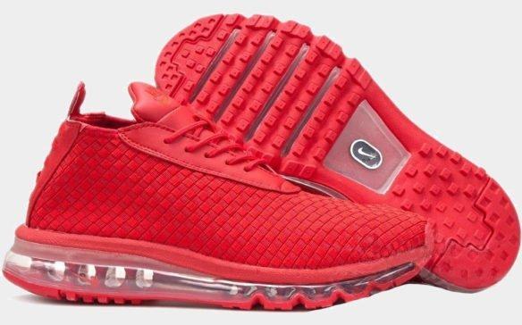 Фото Nike Air Max Woven Boot красные - 1